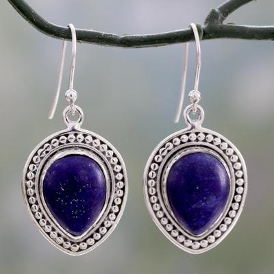 Lapis Lazuli Indian Dangle Earrings