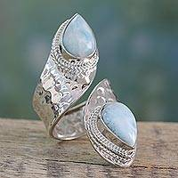 Larimar wrap ring, 'Dreamy Duo'