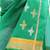 Cotton and silk shawl, 'Forever Emerald' - Emerald Green Cotton and Silk Shawl with Golden Flowers (image 2b) thumbail
