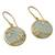 Gold vermeil chalcedony dangle earrings, 'Dewdrop Nature' - Gold Vermeil Aqua Chalcedony Earrings with Cubic Zirconia (image 2b) thumbail