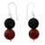 Smoky quartz and carnelian dangle earrings, 'Fire in the Mist' - Dangle Earrings with Smoky Quartz and Carnelian thumbail