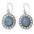 Chalcedony dangle earrings, 'Azure Ice' - Fair Trade Silver Earrings with Pale Blue Chalcedony (image 2a) thumbail