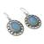 Chalcedony dangle earrings, 'Azure Ice' - Fair Trade Silver Earrings with Pale Blue Chalcedony (image 2b) thumbail