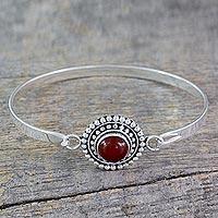 Carnelian bangle bracelet,