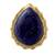 Gold vermeil lapis lazuli cocktail ring, 'Royal Fascination' - Gold Vermeil Lapis Lazuli Cabochon Cocktail Ring from India (image 2a) thumbail