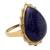 Gold vermeil lapis lazuli cocktail ring, 'Royal Fascination' - Gold Vermeil Lapis Lazuli Cabochon Cocktail Ring from India (image 2b) thumbail