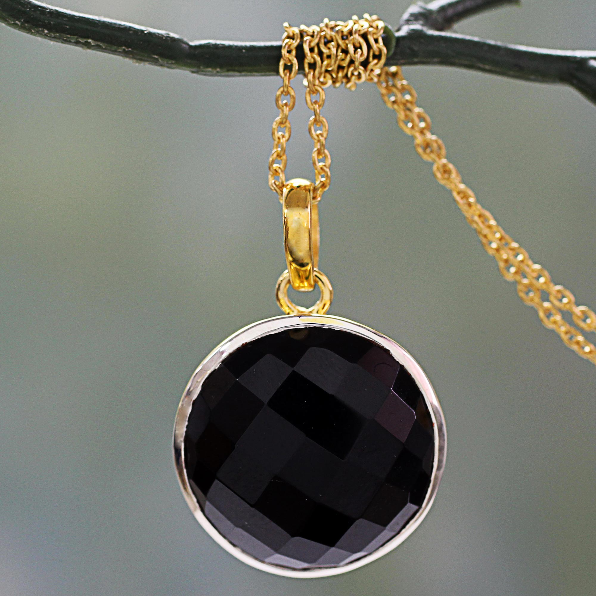 black product and onyx siren mini vinader monica pendant sterling silver harrods line