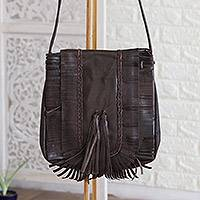 Featured review for Leather shoulder bag, Goa Style
