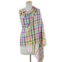 Cahsmere shawl, 'Festivities' - Colorful Hand Woven 100% Cashmere Shawl from India