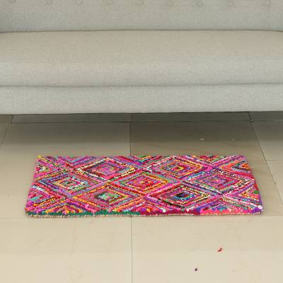 Recycled Fabric Chindi Area Rug