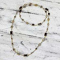 Silver heart bracelet - Amethyst Citrine and Blue Topaz Gold Vermeil Cocktail Ring