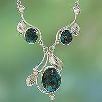 Cultured pearl Y necklace,