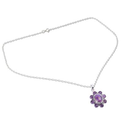 Composite Turquoise Artisan Crafted Necklace with Amethyst