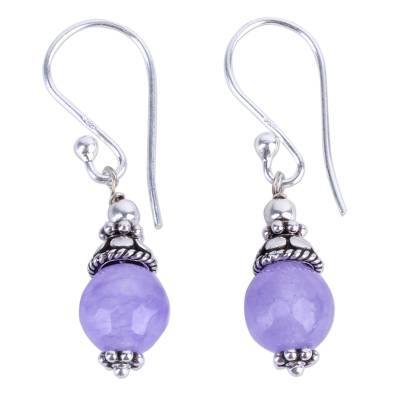 Handmade Sterling Silver Agate Earrings from India