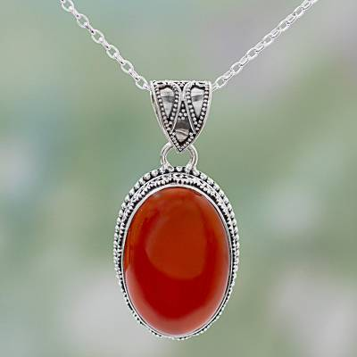 gemstone carnelian boho statement necklace listing wiresnpliers super pendant aftcra