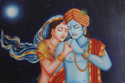 Placing Radha Krishna Photo In Living Room