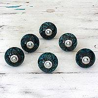 Featured review for Ceramic cabinet knobs, Floral Helpers (set of 6)