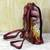Leather backpack, 'Royal Court' - Hand Painted Leather Backpack Multicolored from India (image 2b) thumbail
