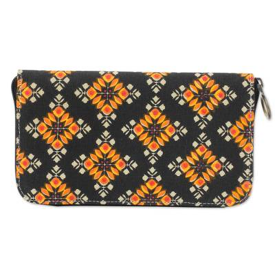 100% Cotton Printed Wallet with Zipper from India