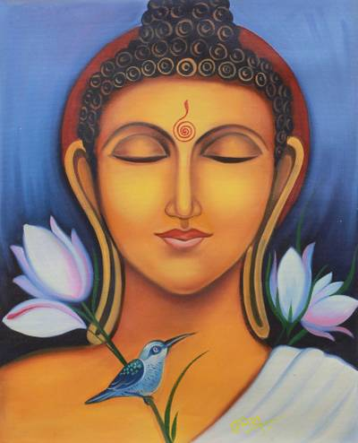 Painting of Buddha at ...