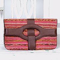 Cotton convertible handbag clutch,