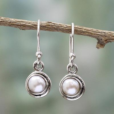 Novica Silver dangle earrings, Urban Love