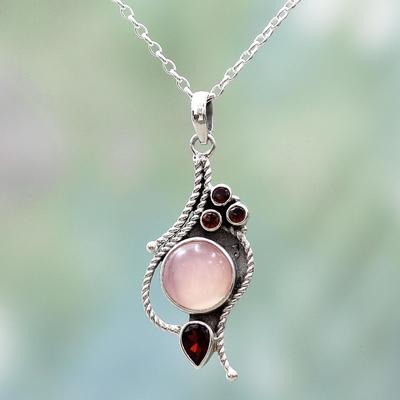 cz bezel necklace