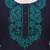 Cotton tunic, 'Indigo Magnificence' - Indigo Blue Cotton Tunic with Turquoise Floral Embroidery (image 2d) thumbail