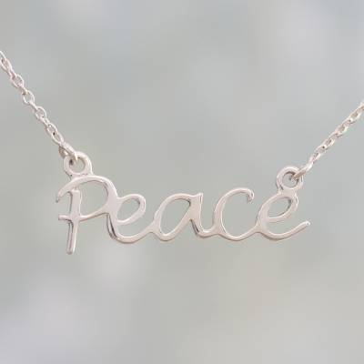 sterling silver chain and pendant