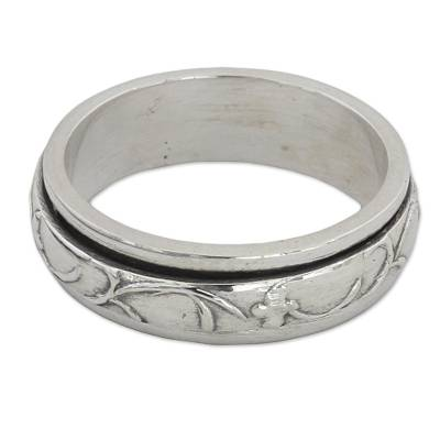 Artisan Crafted Sterling Silver Spinner Ring from India