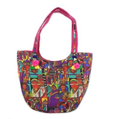 Novica Shoulder bag, Gujarat Dreams - Artisan Crafted Patterned Shoulder Bag from India