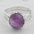 Amethyst cocktail ring, 'Lilac Ecstasy' - Amethyst and Sterling Silver Cocktail Ring from India thumbail