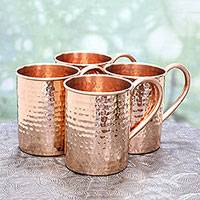 Featured review for Copper mugs, Campfire Camaraderie (set of 4)