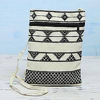 Featured review for Hand woven cotton passport bag, Kaleidoscope Traveler in Ivory