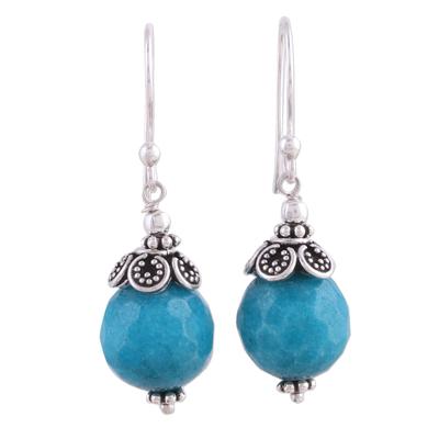 Blue Aventurine and Sterling Silver Dangle Earrings