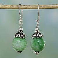 Aventurine dangle earrings, 'Green Delight' - Green Aventurine and Sterling Silver Dangle Earrings