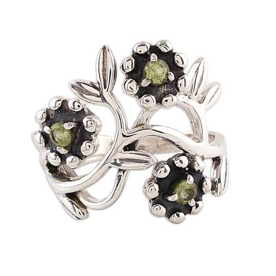 Fair Trade Peridot Sterling Silver August Birthstone Cocktail Ring