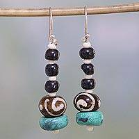 Featured review for Bone dangle earrings, Beautiful Earth