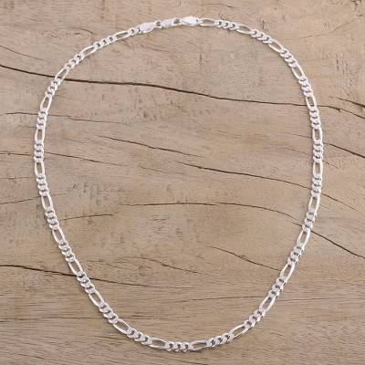 Men S Sterling Silver Chain Necklace From India Modern Accent Novica