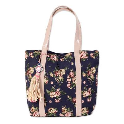 Novica Cotton handbag, Chic Pink