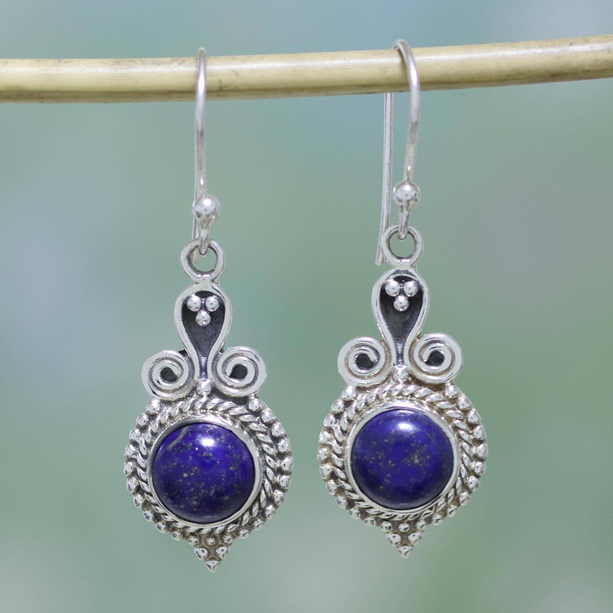 UNICEF Market | 925 Sterling Silver and Lapis Lazuli India Jewelry ...