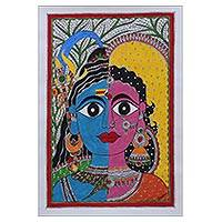 Featured review for Madhubani painting, Ardhnareshwar II - The Union