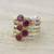 Ruby cocktail ring, 'Alluring Globes in Crimson' - Handmade Ruby and Sterling Silver Ring from India (image 2) thumbail