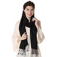 Silk and wool blend shawl,