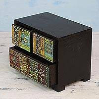 Mango wood decorative box, 'Ancient Splendor' - Handcrafted Decorative Mango Wood Box from India