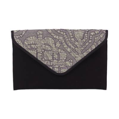 Leather Accent Cotton Appliqu?�?�?�?� Tablet Case from India