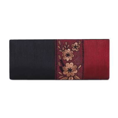 Black and Crimson Clutch Evening Handbag from India