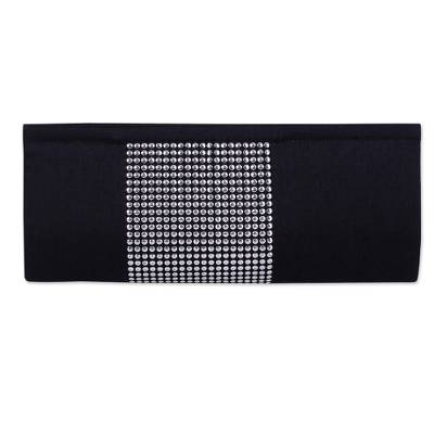 Black and Silver Evening Clutch Handbag from India
