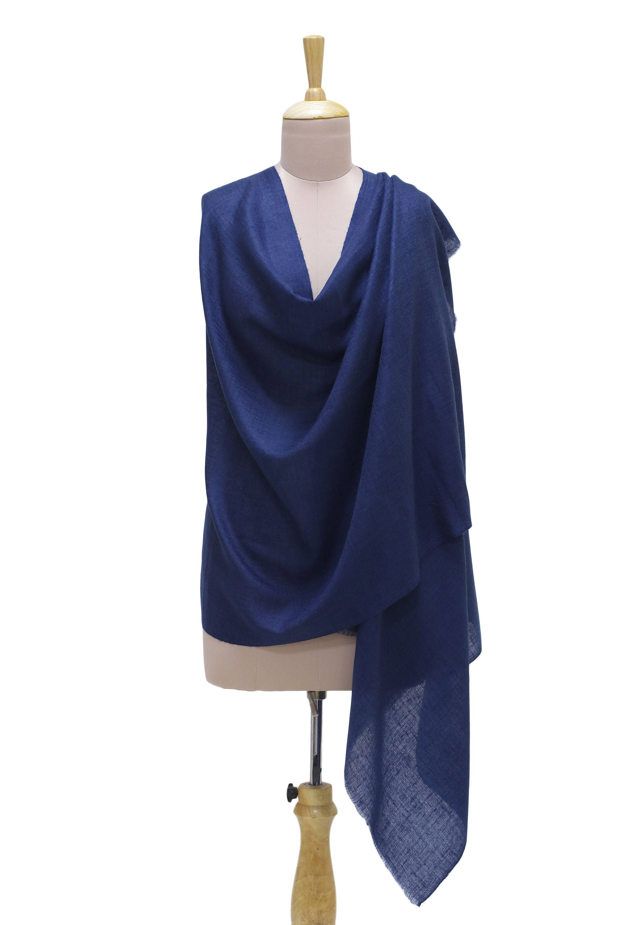 b78a4d504 UNICEF Market   Handwoven Azure Pashmina Cashmere Wool Shawl from ...