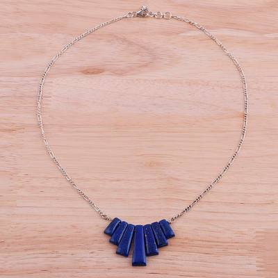Lapis lazuli waterfall pendant necklace from india trendy blue lapis lazuli pendant necklace trendy blue lapis lazuli waterfall pendant necklace from aloadofball Choice Image